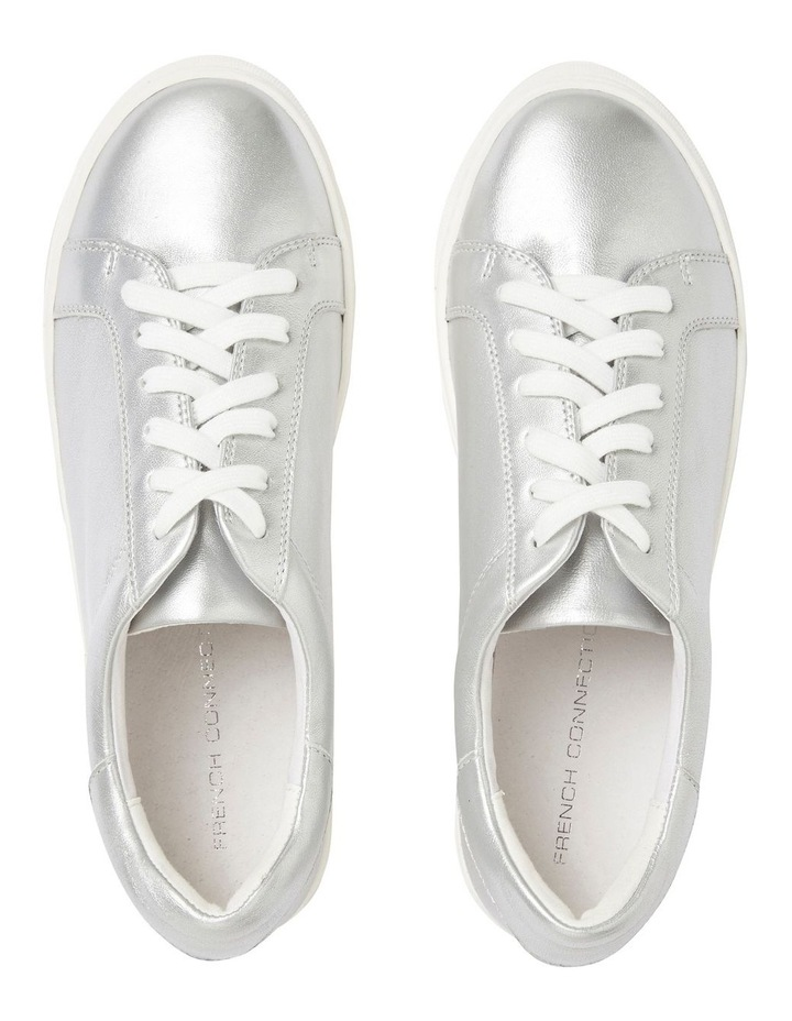 Silver Leather Sneaker image 4