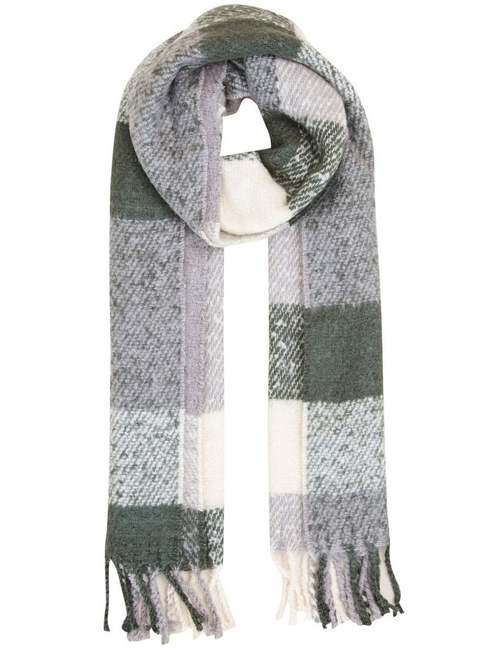 Fluffy Check Scarf image 1