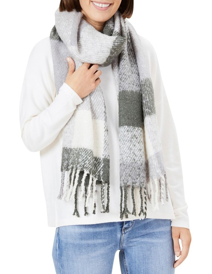 Fluffy Check Scarf image 2