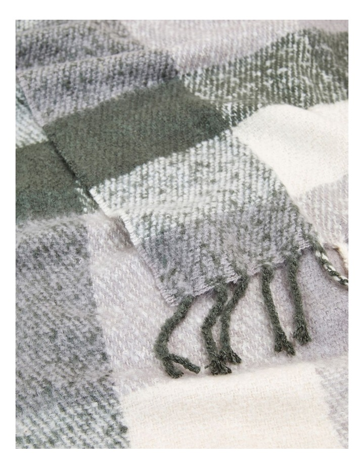 Fluffy Check Scarf image 3
