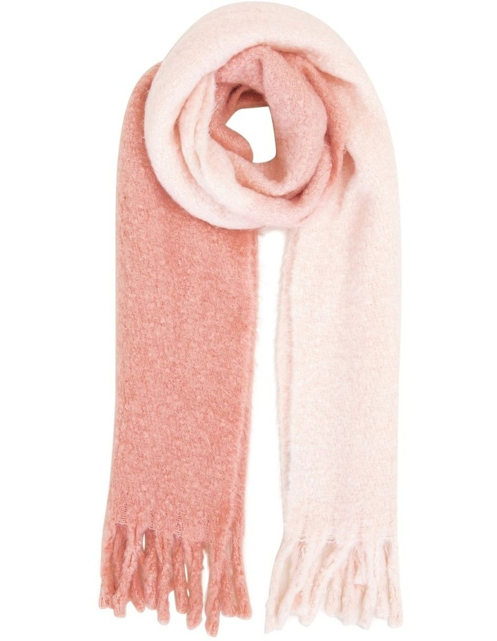 Ombre Pink Fringed Scarf image 1