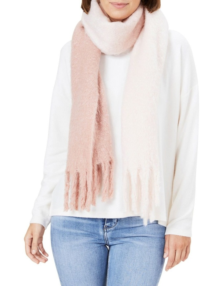 Ombre Pink Fringed Scarf image 2