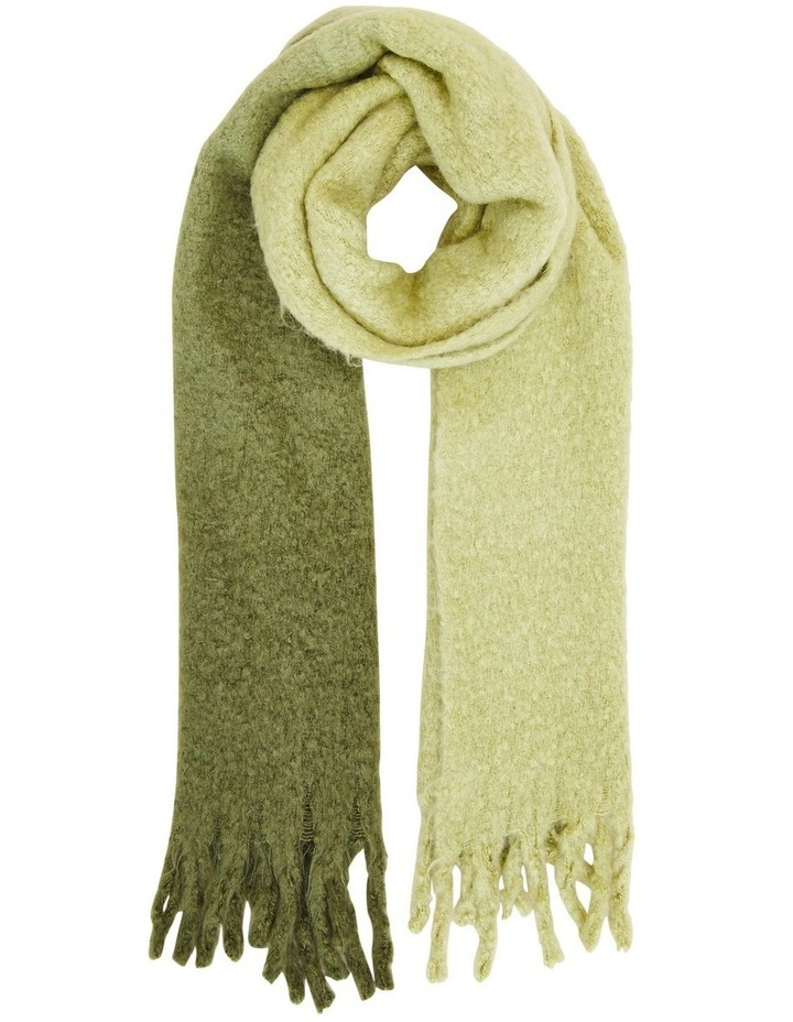 Ombre Olive Fringed Scarf image 1