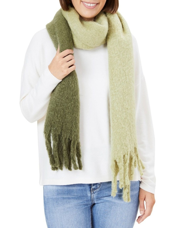 Ombre Olive Fringed Scarf image 2