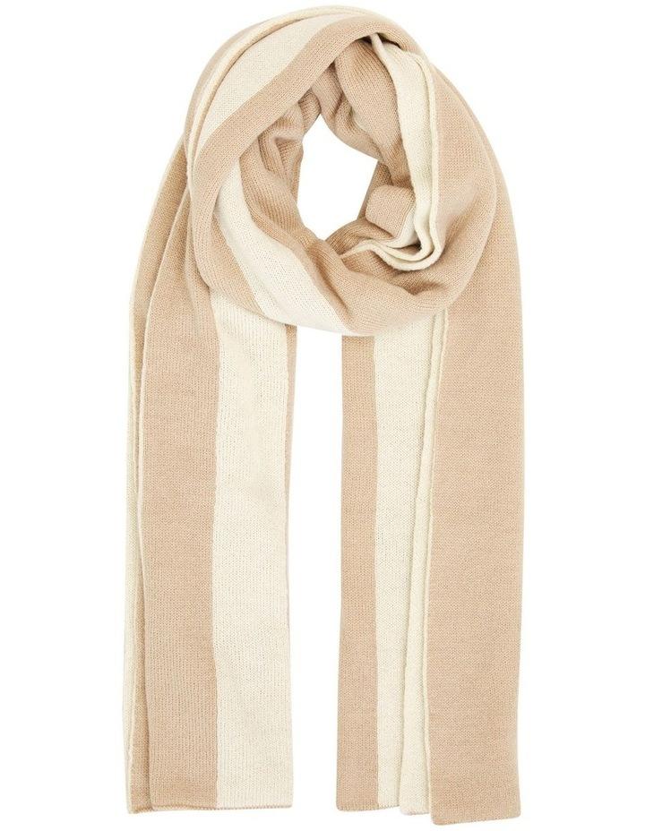 Camel Wool Blend Blanket Scarf image 1