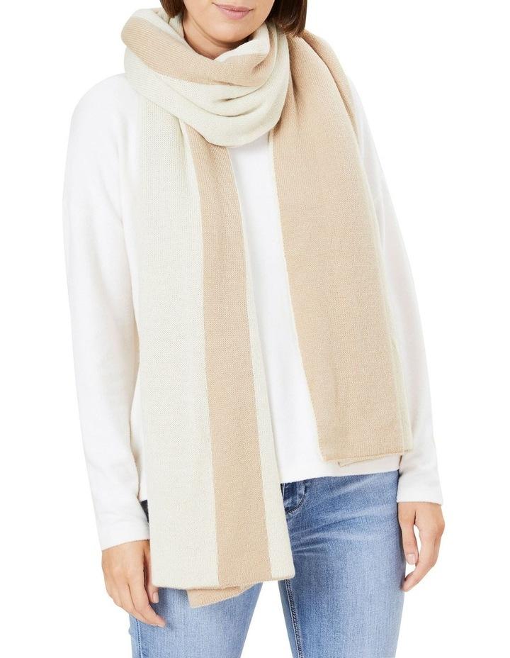 Camel Wool Blend Blanket Scarf image 2