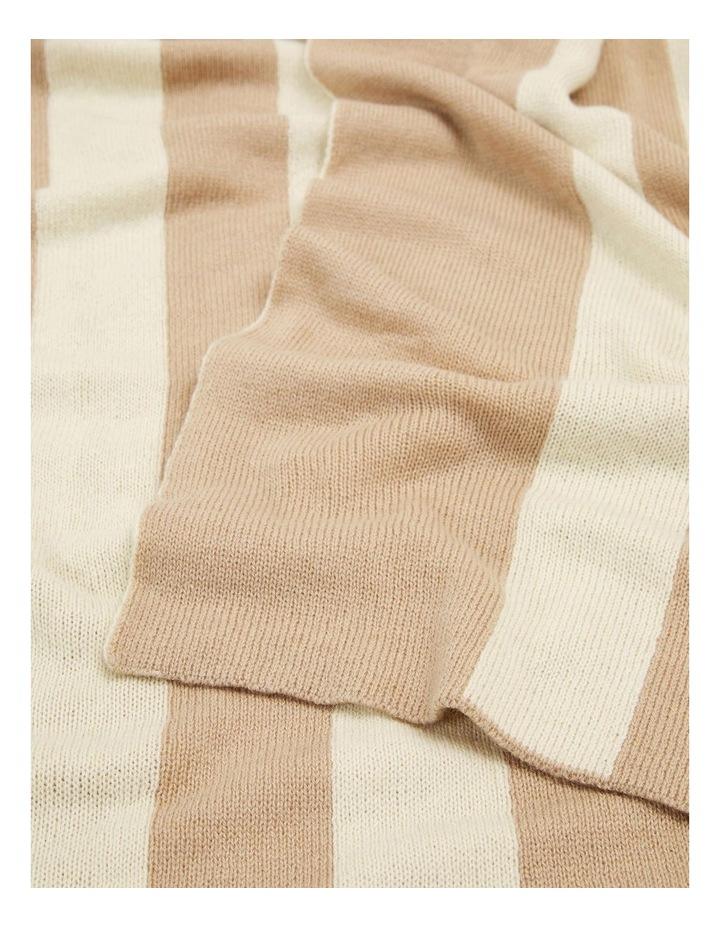 Camel Wool Blend Blanket Scarf image 3