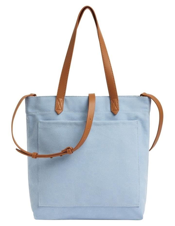 Blue Canvas Tote Bag image 1