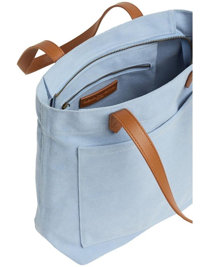 Blue Canvas Tote Bag image 3