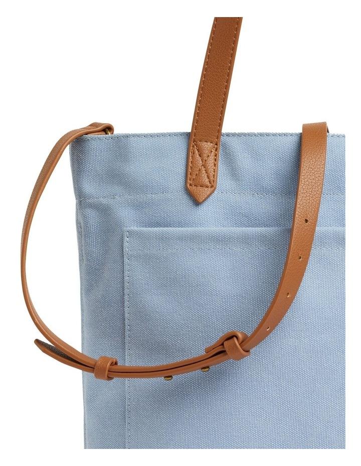 Blue Canvas Tote Bag image 4