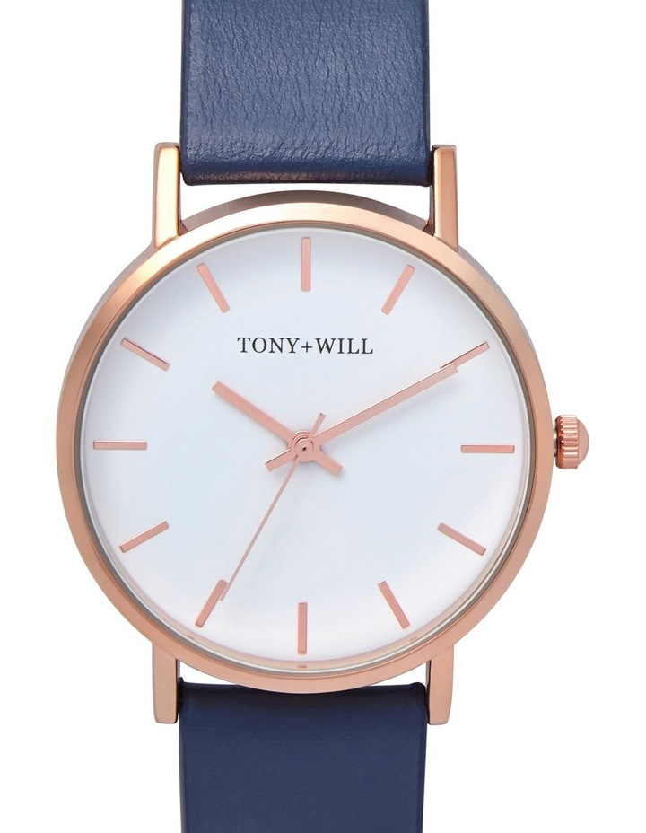 Small Classic Leather Navy TWT004E Watch image 1