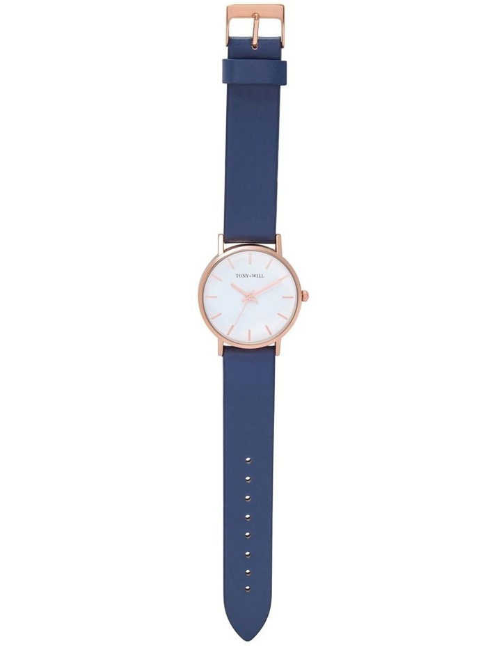 Small Classic Leather Navy TWT004E Watch image 2