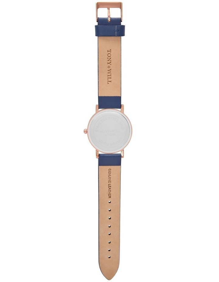 Small Classic Leather Navy TWT004E Watch image 3