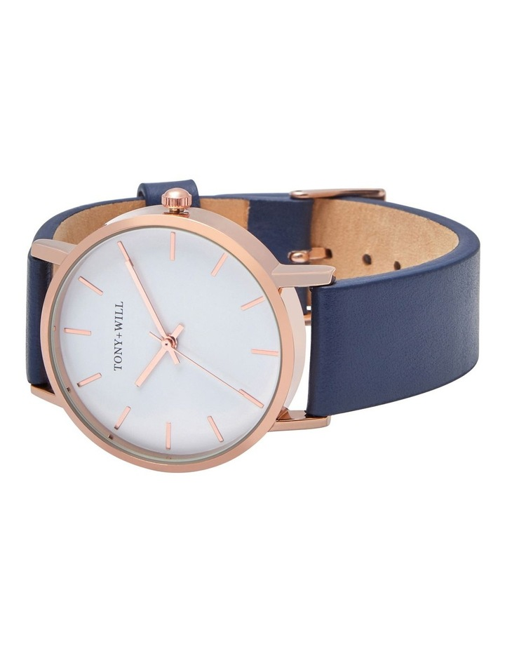 Small Classic Leather Navy TWT004E Watch image 4