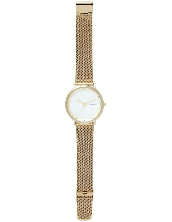 Lunar Mesh Gold Stainless Steel Quartz Watch TWM005E image 2