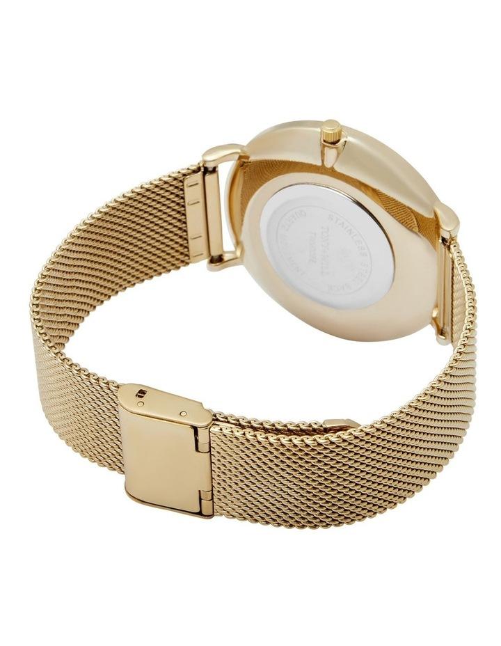 Lunar Mesh Gold Stainless Steel Quartz Watch TWM005E image 5