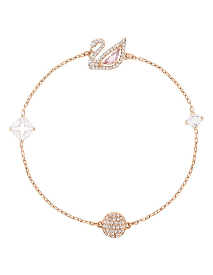 Dazzling Swan Bracelet - Multi-colored - Rose-Gold Tone Plated image 1