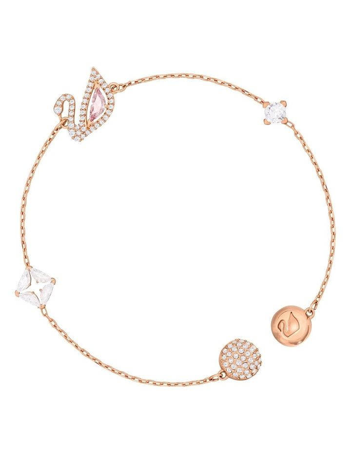 Dazzling Swan Bracelet - Multi-colored - Rose-Gold Tone Plated image 3