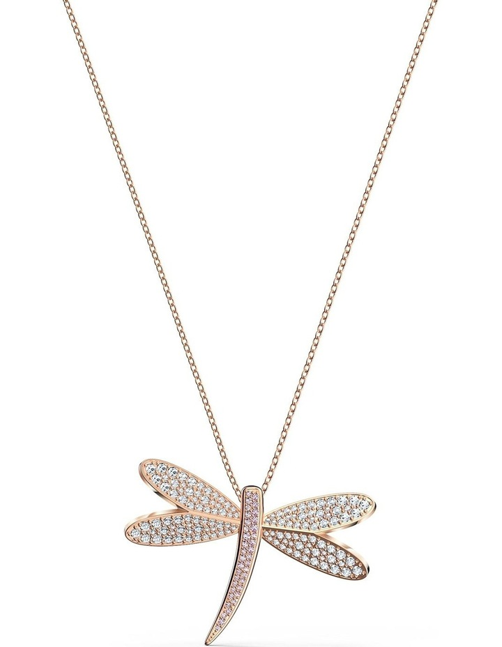 Eternal Flower Necklace - White - Rose-Gold Tone Plated image 1