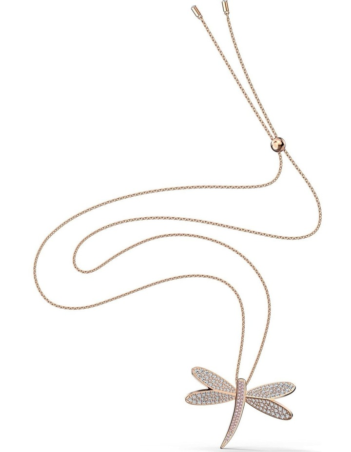 Eternal Flower Necklace - White - Rose-Gold Tone Plated image 2