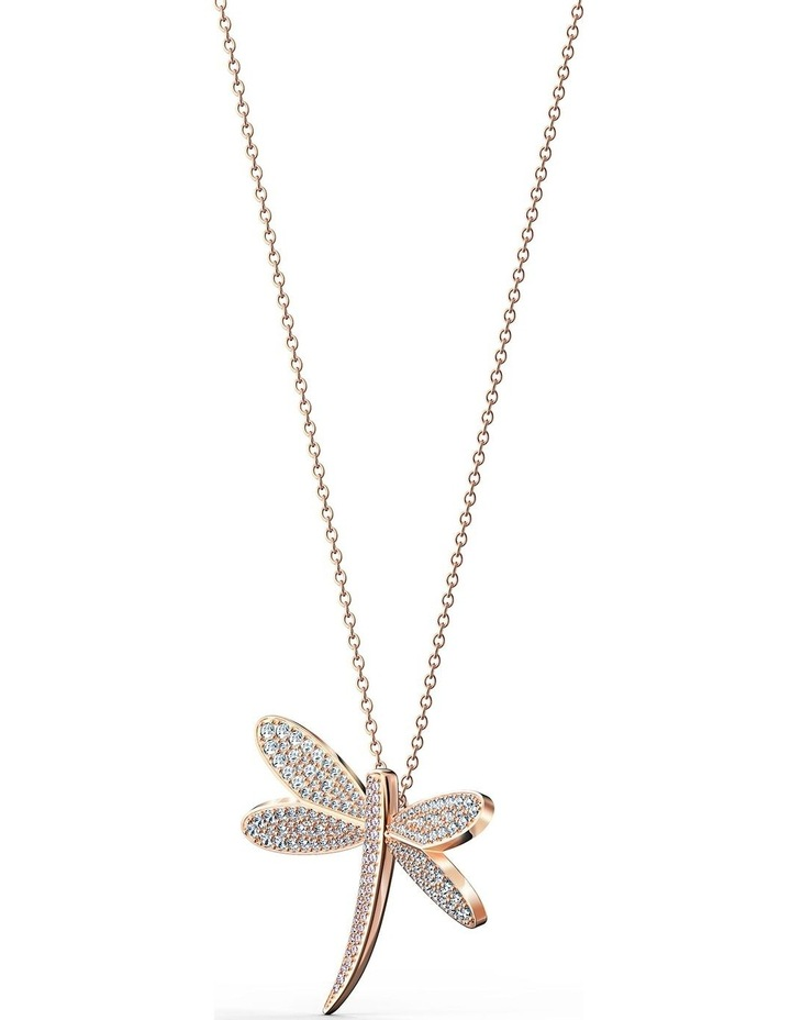 Eternal Flower Necklace - White - Rose-Gold Tone Plated image 3