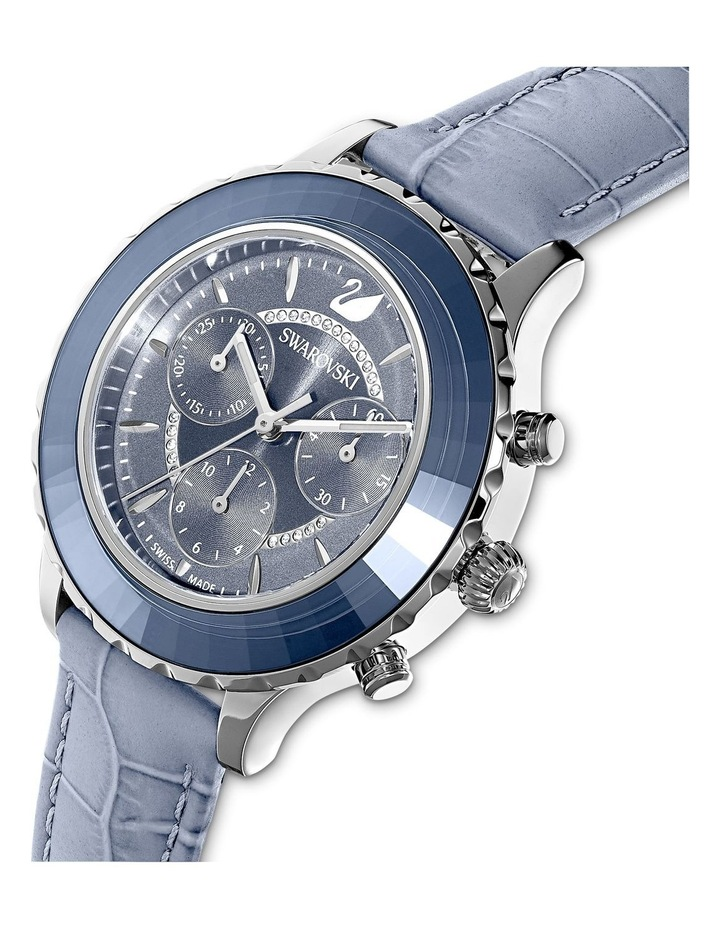 Octea Lux Blue Leather Chronograph Watch image 4