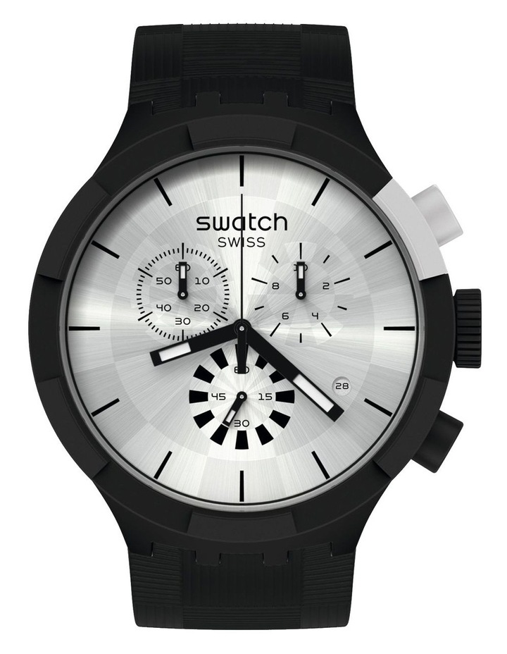 Chequered Silver Watch image 1