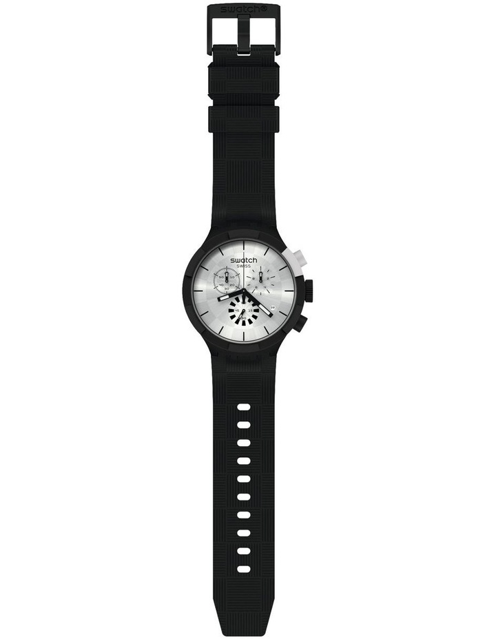 Chequered Silver Watch image 2