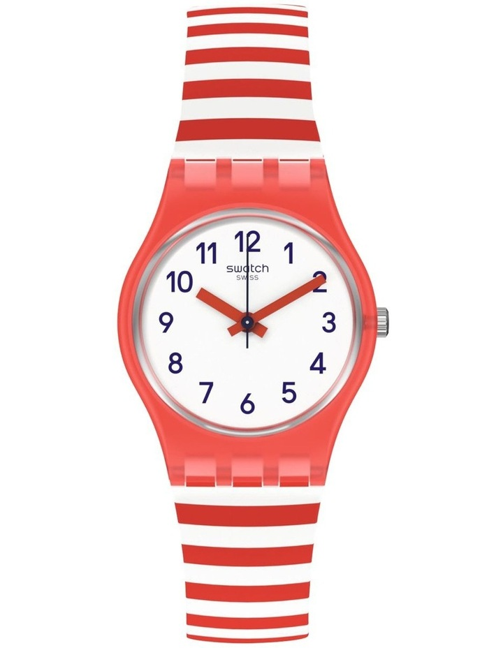 Blue Boat Red Silicone Quartz Watch image 1