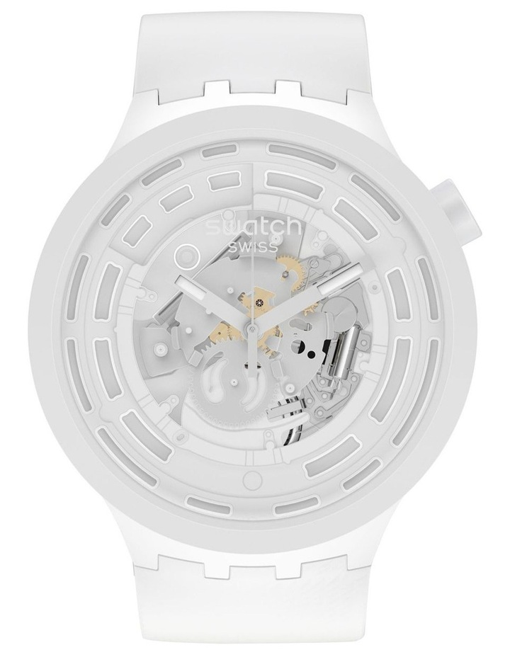 C-White Bioceramic Quartz Watch image 1