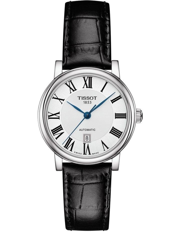 Carson Premium Lady Black Leather Automatic Watch T122.207.16.033.00 image 1