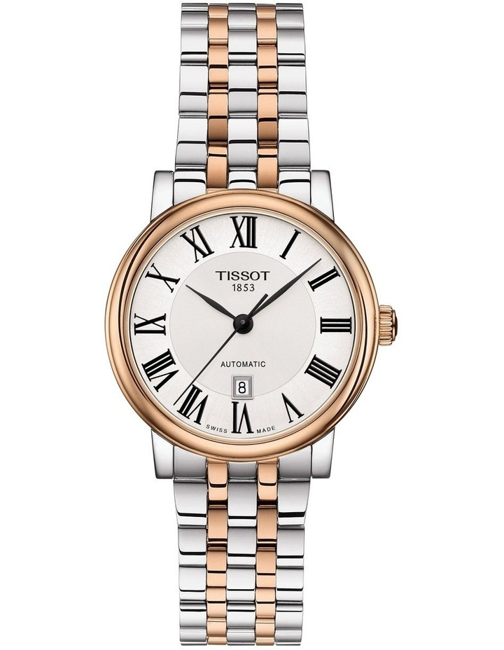 Carson Premium Lady Silver Stainless Steel Automatic Watch T122.207.22.033.00 image 1