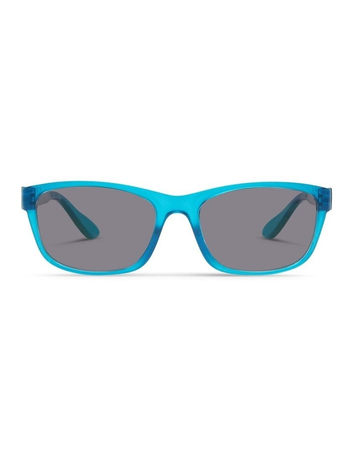 Azure Blue UV Protected with Grey Tint Rectangle Sunglasses image 1