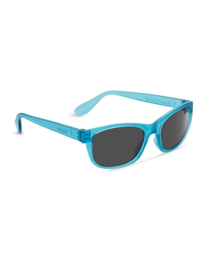 Azure Blue UV Protected with Grey Tint Rectangle Sunglasses image 2