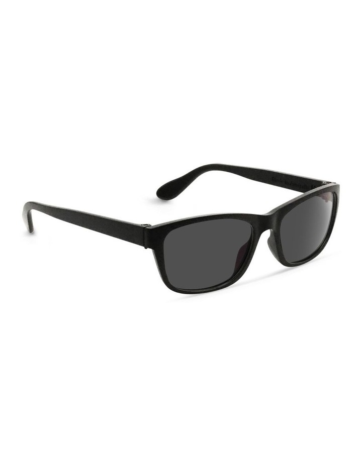 Black UV Protected Sunglasses with Grey Tint image 2