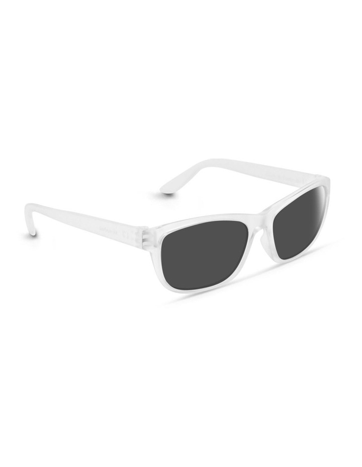 Clear Frost UV Protected Sunglasses with Grey Tint image 2