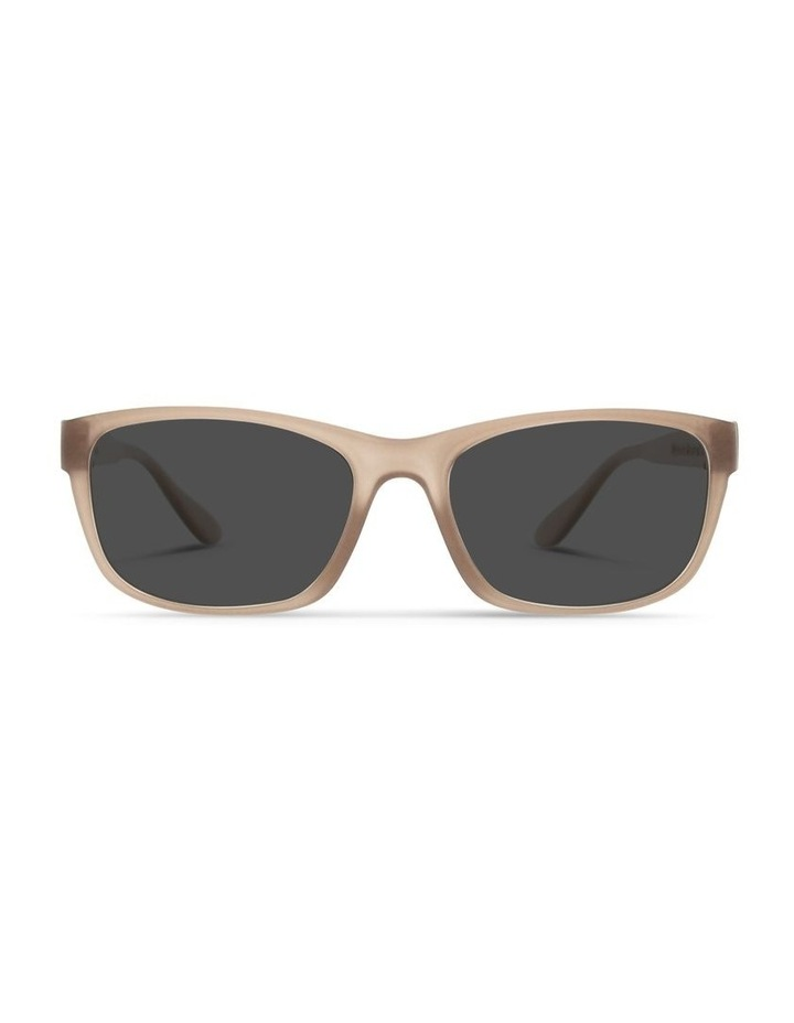 Sepia Brown UV Protected with Grey Tint Rectangle Sunglasses image 1