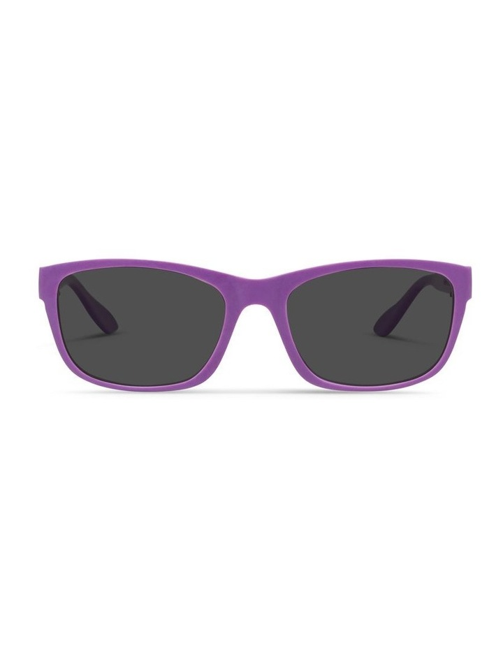 Violet UV Protected with Grey Tint Rectangle Sunglasses image 1
