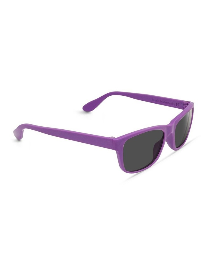 Violet UV Protected with Grey Tint Rectangle Sunglasses image 2