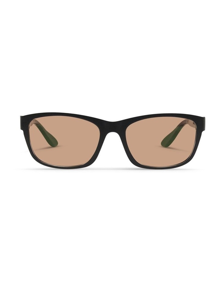 Black UV Protected Sunglasses with Brown Tint image 1
