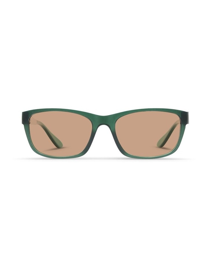 Forest Green UV Protected Sunglasses with Brown Tint image 1