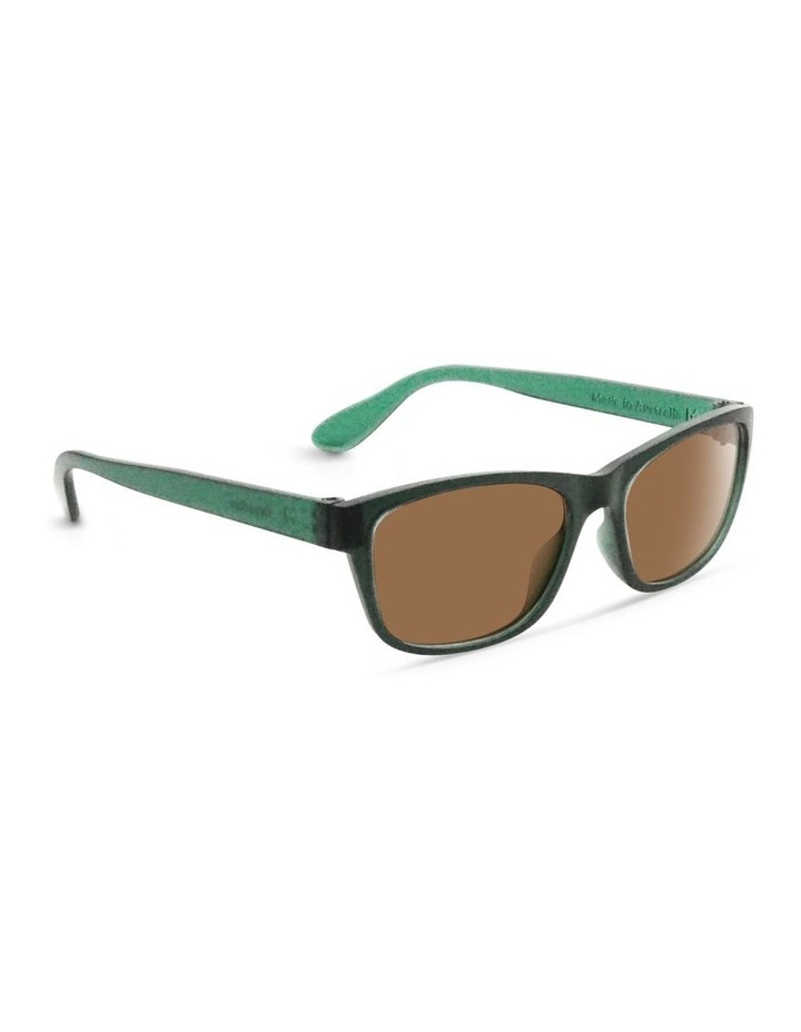 Forest Green UV Protected Sunglasses with Brown Tint image 2