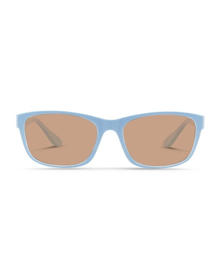 Sky Blue UV Protected Sunglasses with Brown Tint image 1