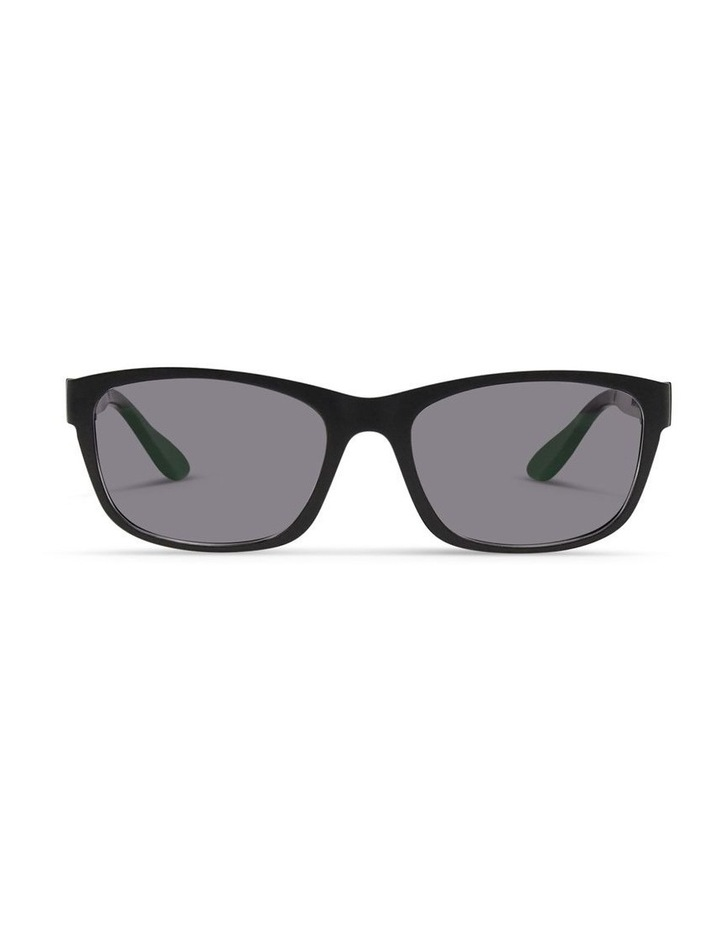 Black UV Protected Polarised Sunglasses with Grey Tint image 1