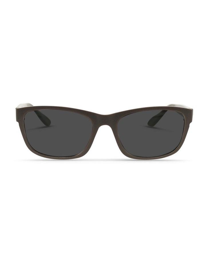 Dark Chocolate UV Protected Polarised with Grey Tint Rectangle Sunglasses image 1