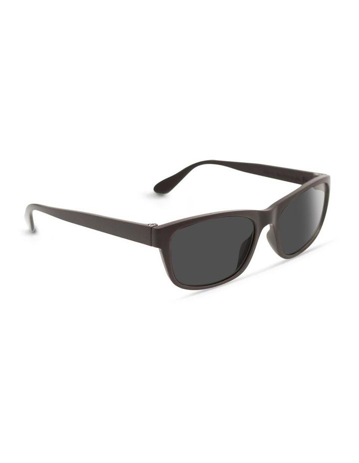 Dark Chocolate UV Protected Polarised with Grey Tint Rectangle Sunglasses image 2