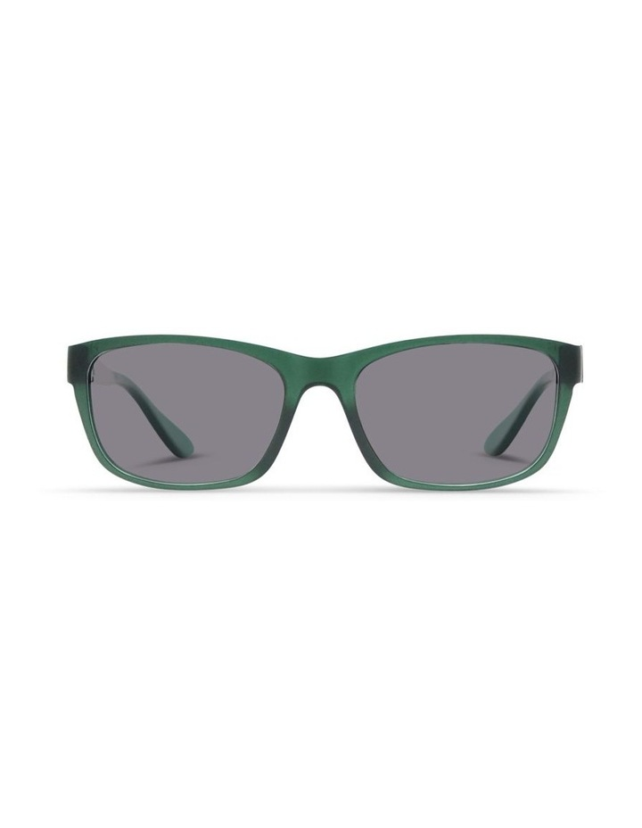 Forest Green UV Protected Polarised with Grey Tint Rectangle Sunglasses image 1