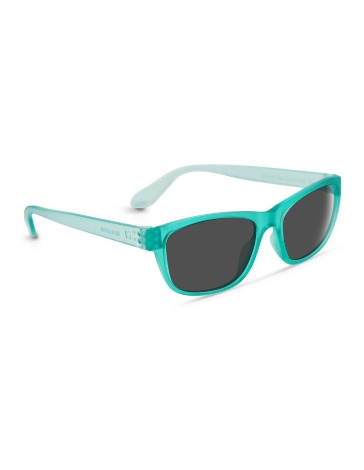 Ice Blue UV Protected Polarised with Grey Tint Rectangle Sunglasses image 2