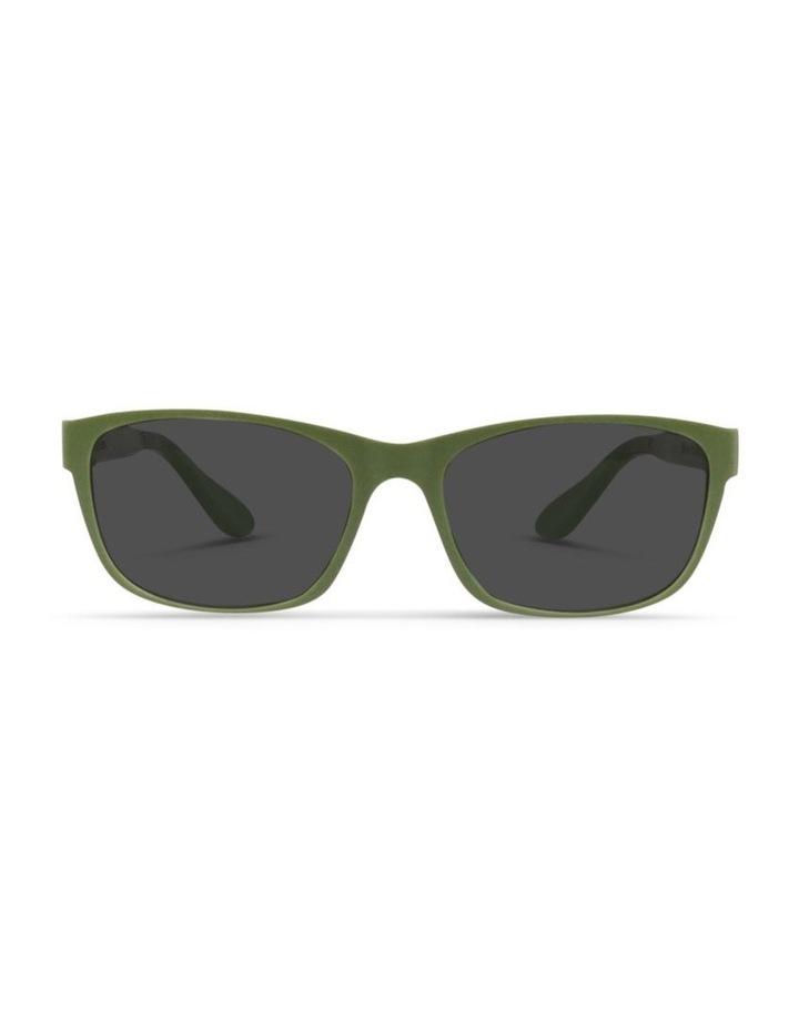 Pistachio UV Protected Polarised with Grey Tint Rectangle Sunglasses image 1