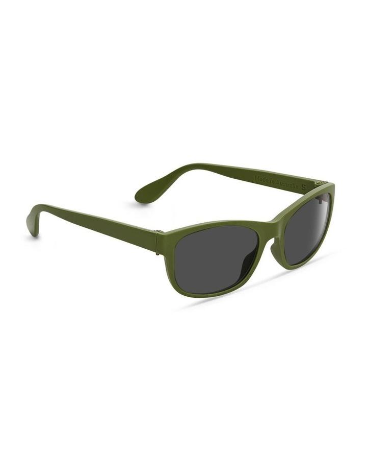 Pistachio UV Protected Polarised with Grey Tint Rectangle Sunglasses image 2